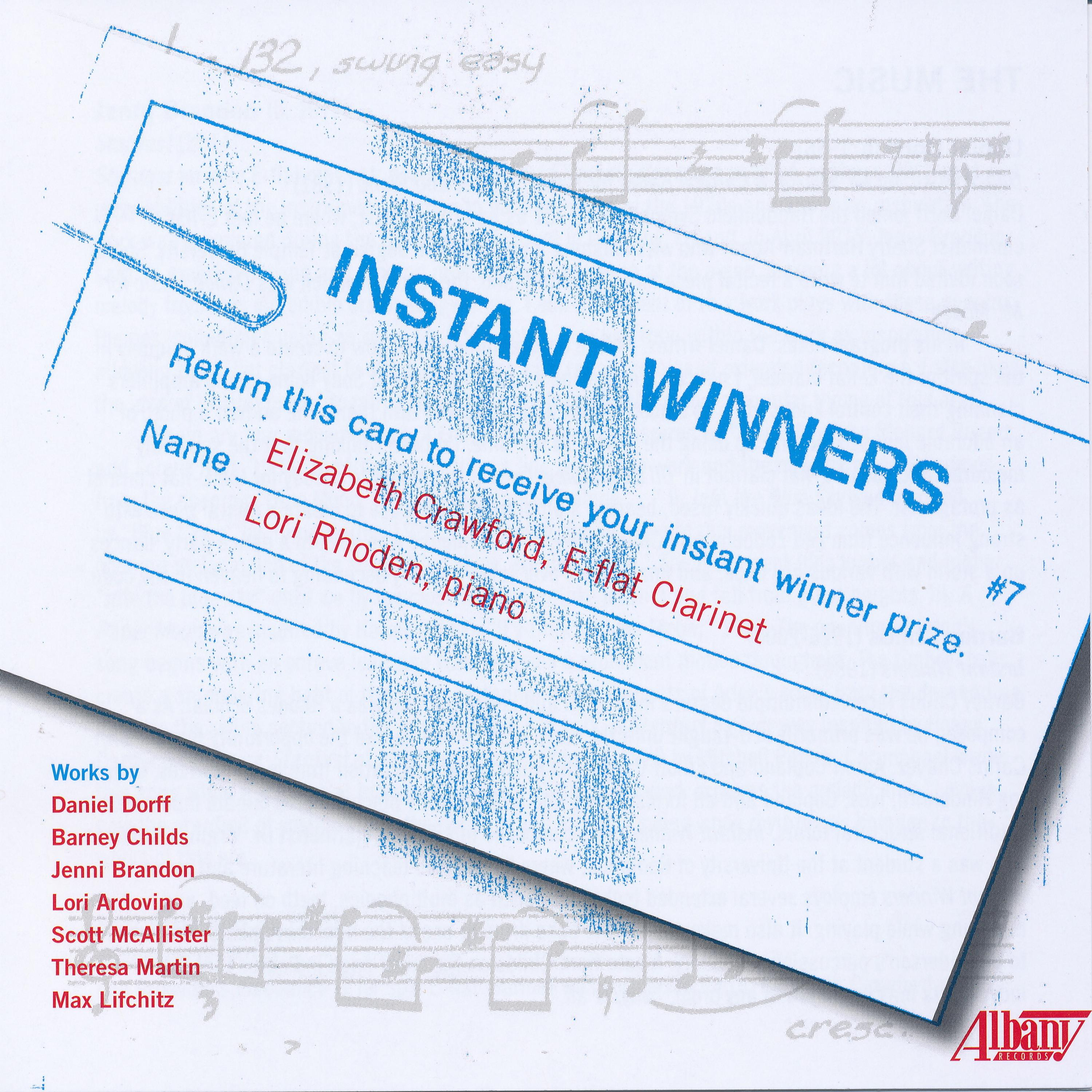 Instant Winners: III. Quarter note = 90, staccata possible sempre